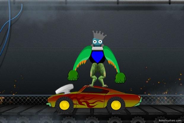 monster king in car
