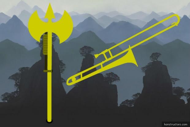 Trombone Turned Battleaxe RWBY