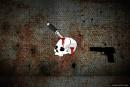 knife bullet blood