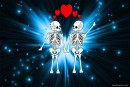 Love between two skeletons