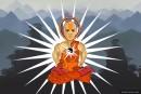 Monk in Teleportation Meditation